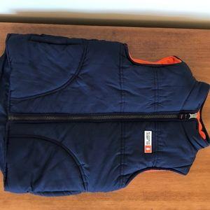Carters Navy/Orange Puffer Vest